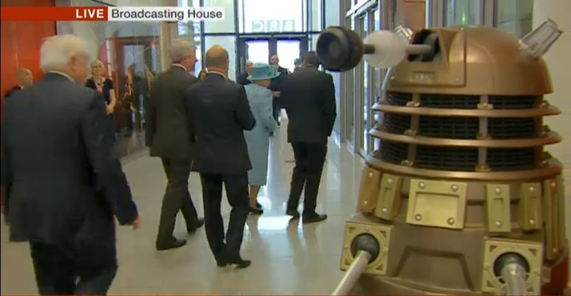 The Queen at BBC Broadcasting House, 7th June 2013 (Credit: BBC News)