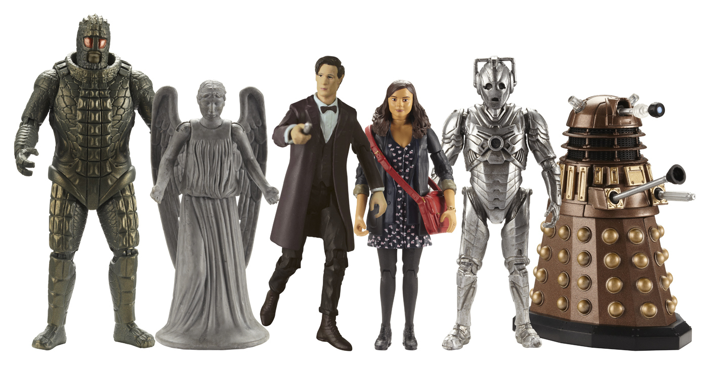 "Character 3.75"" Figures: Ice Warrior, Weeping Angel, Doctor, Clara, Cyberman, Dalek (Credit: Character)"