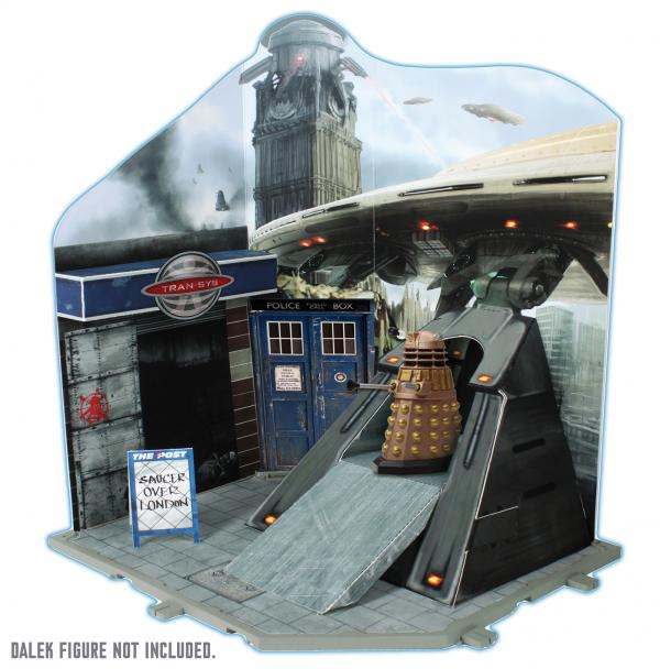 "Character 3.75"" Figures: Timezone Playset: Dalek Invasion (Credit: Character)"