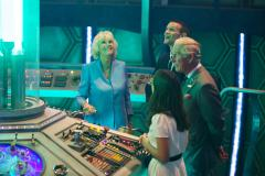 Prince Charles and Camilla visit the Doctor Who Set at Roath Lock. 3rd July 2013 (Credit: Simon Ridgway/BBC)
