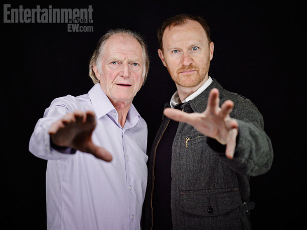 David Bradley and Mark Gatiss (Credit: Entertainment Weekly)