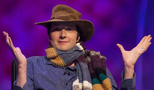 Chris Addison as the Doctor, Mock The Week, June 2013 (Credit: BBC)