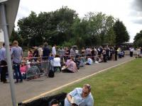 Queuing at Elstree (Credit: Jaqui Connell/Twitter)
