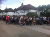 Queuing at Elstree (Credit: Kier Husband/Twitter)