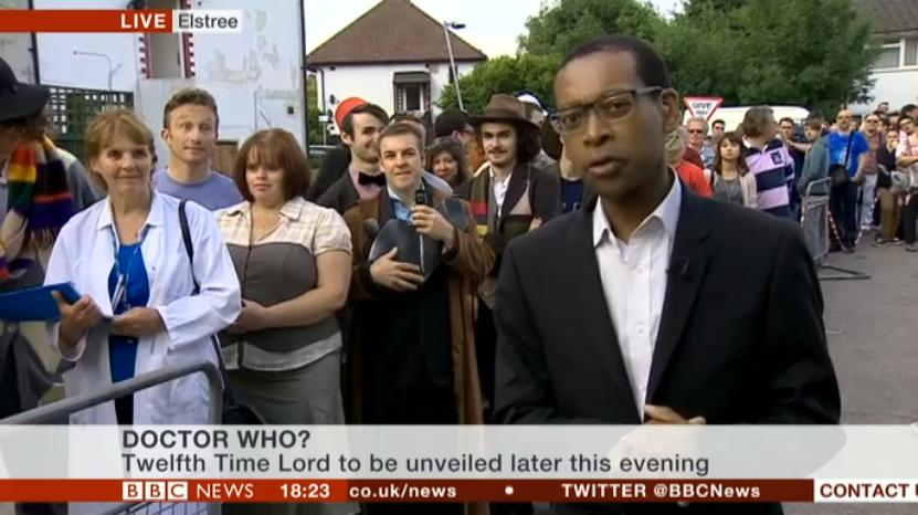 Lizo Mzimba reports from Elstree (Credit: BBC News)