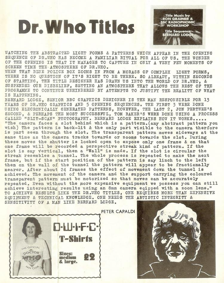 DWIFC Magazine -  Issue 2, May 1976 (Credit: Matthew Kilburn)