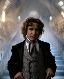 Paul McGann as The Doctor (publicity photo from The TV Movie) (Credit: BBC)