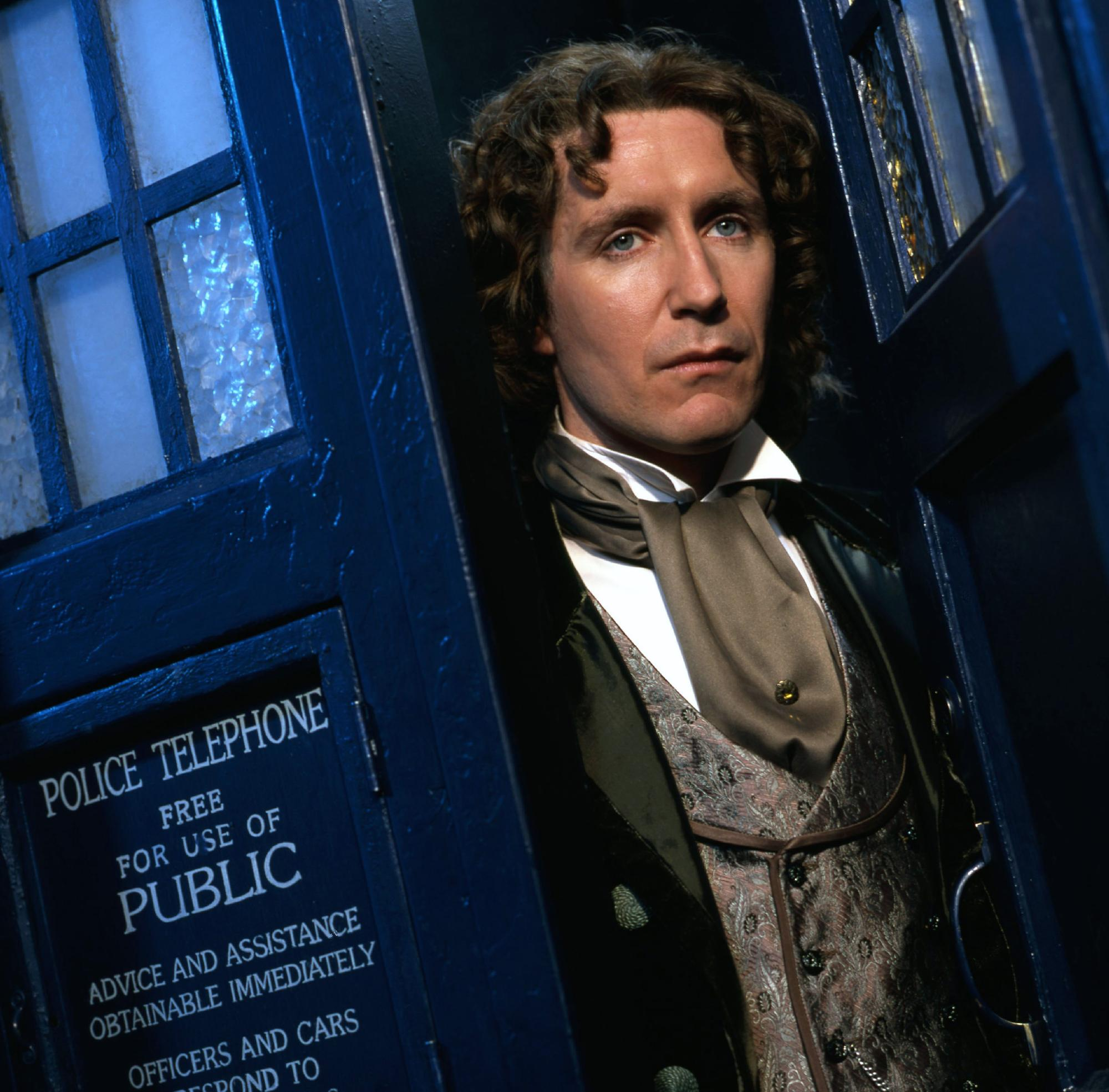 Paul McGann as the Doctor (publicity for The TV Movie) (Credit: BBC)