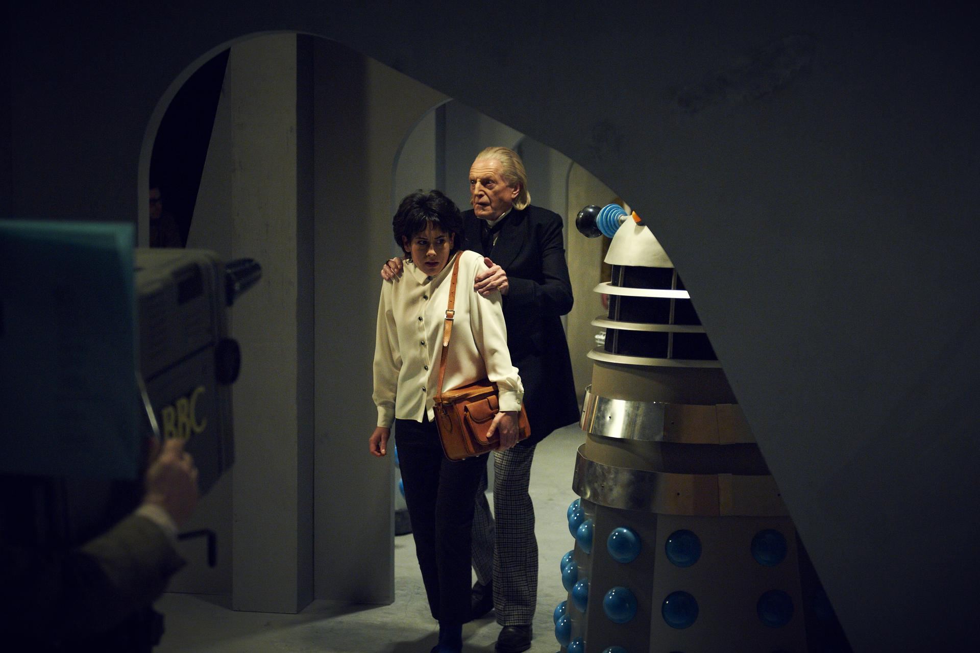 Recreating an iconic scene with Daleks (Credit: BBC/Hal Shinnie)