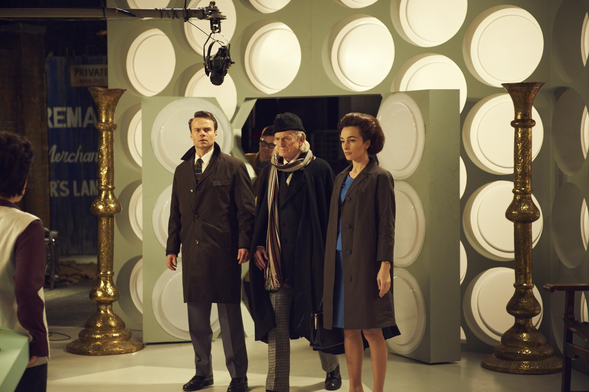 Recreating the first TARDIS interior scene from the Pilot (Credit: BBC/Hal Shinnie)