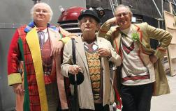 Colin Baker, Sylvester McCoy and Paul McGann in the Five(ish) Doctors Reboot. Photo: BBC