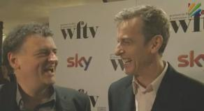 Steven Moffat and Peter Capaldi at the 2013 WFTV Awards (Credit: Press Association)
