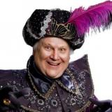 Colin Baker in Aladdin, Anvil Arts Basingstoke, 2013