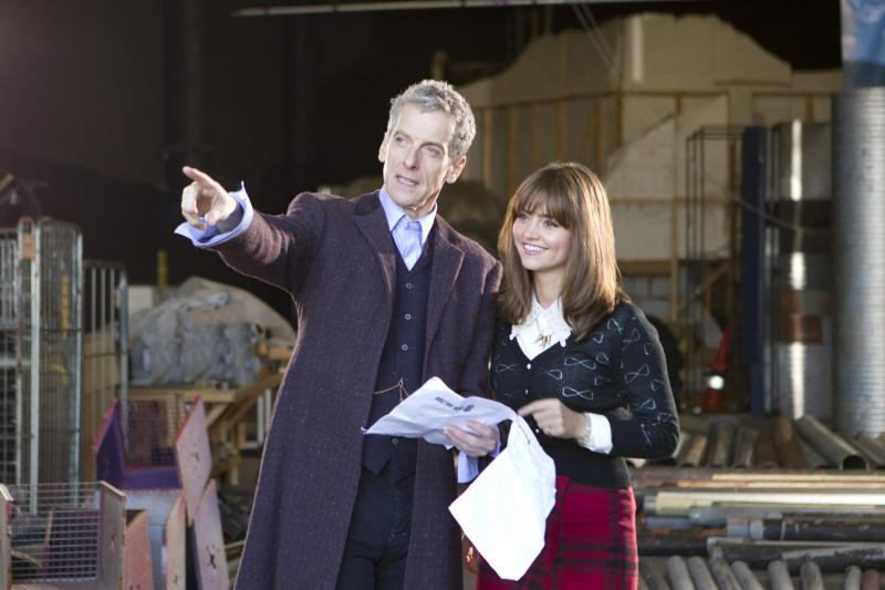 Peter Capaldi and Jenna Coleman begin filming on Series 8 (Credit: BBC/Adrian Rogers)