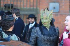 Madame Vastra, as played by Neve McIntosh (Credit: Ryan Farrell, via Twitter)