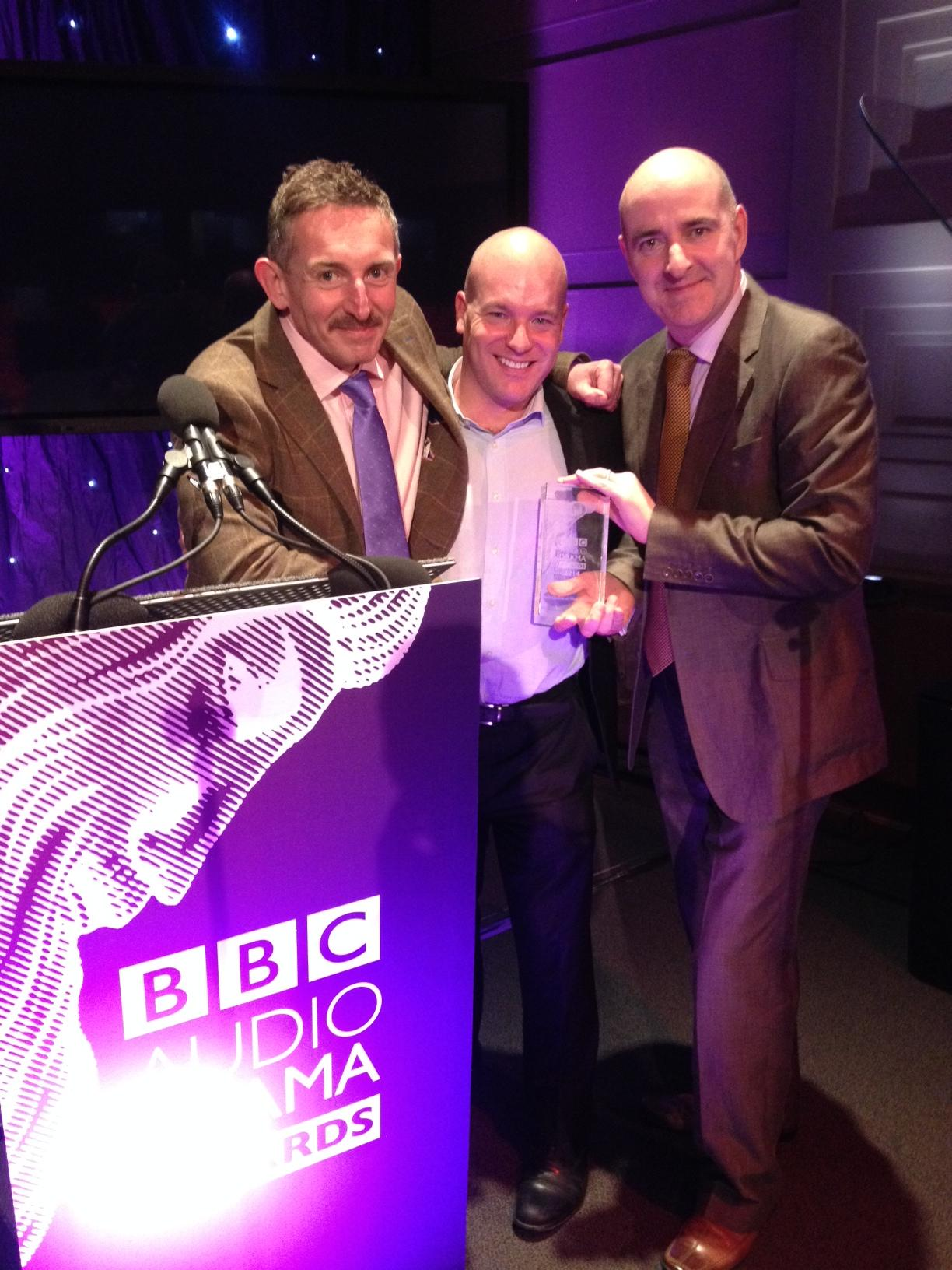 Big Finish at the BBC Audio Drama Awards 2014 (Credit: Big Finish)