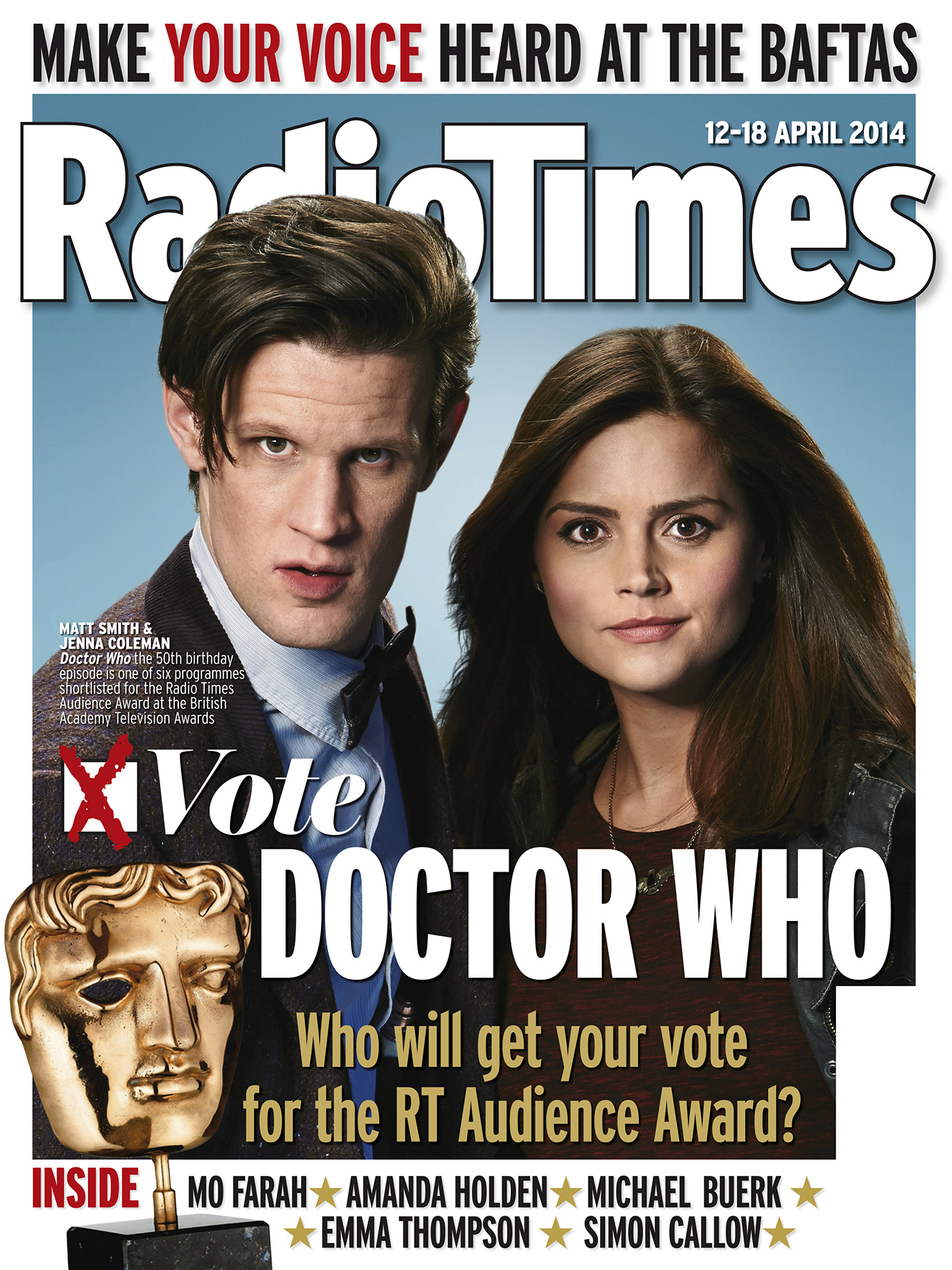 Radio Times (12-18 Apr 2014) - Doctor Who cover (Credit: Radio Times)