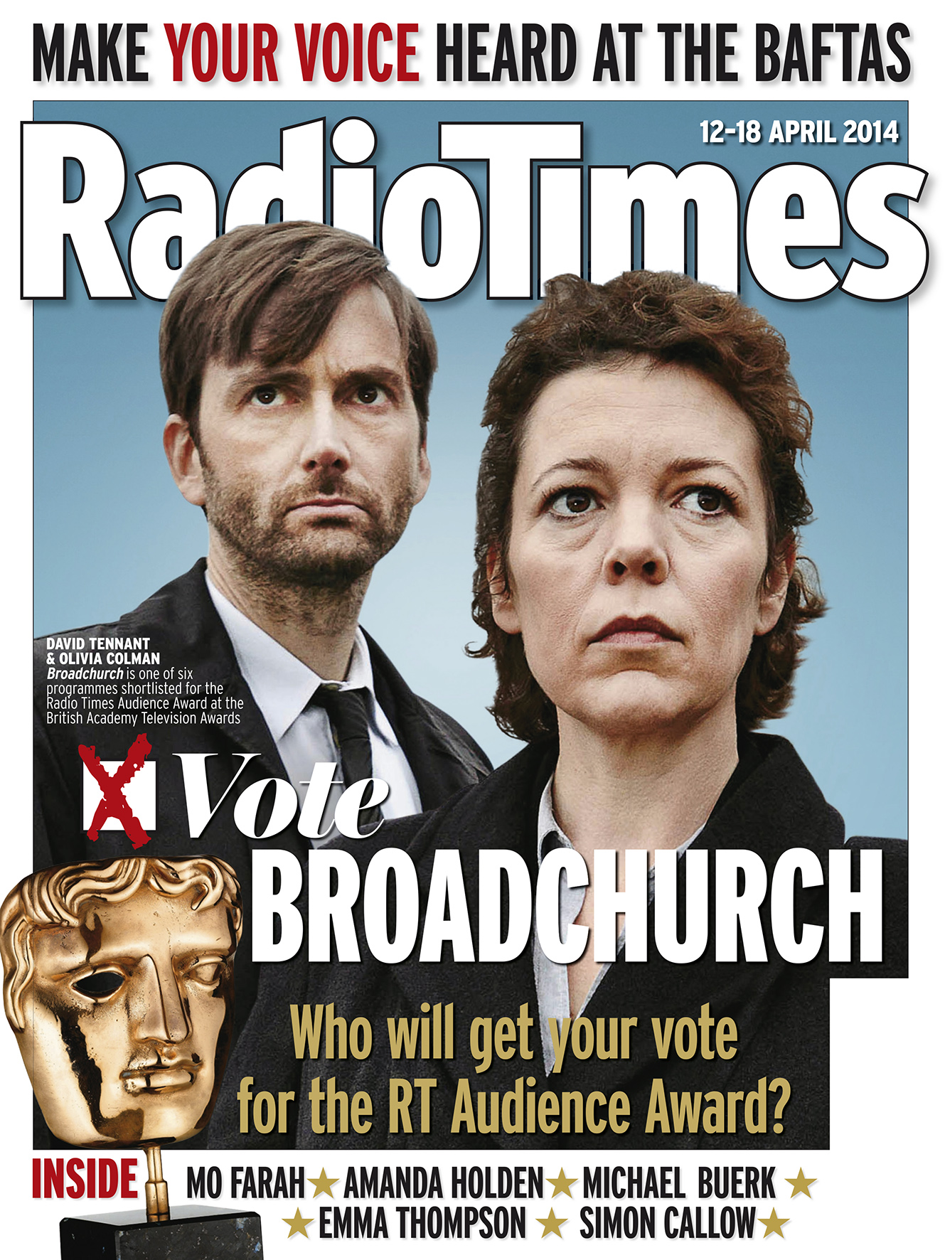 Radio Times (12-18 Apr 2014) - Broadchurch cover (Credit: Radio Times)