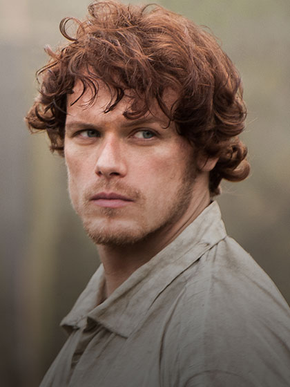 "Sam Heughan as Jamie Fraser in ""Outlander"" (Credit: Starz)"