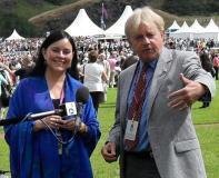 Diana Gabaldon and Frazer Hines, 2009 (Credit: Jean Brittain, via Diana Gabaldon)