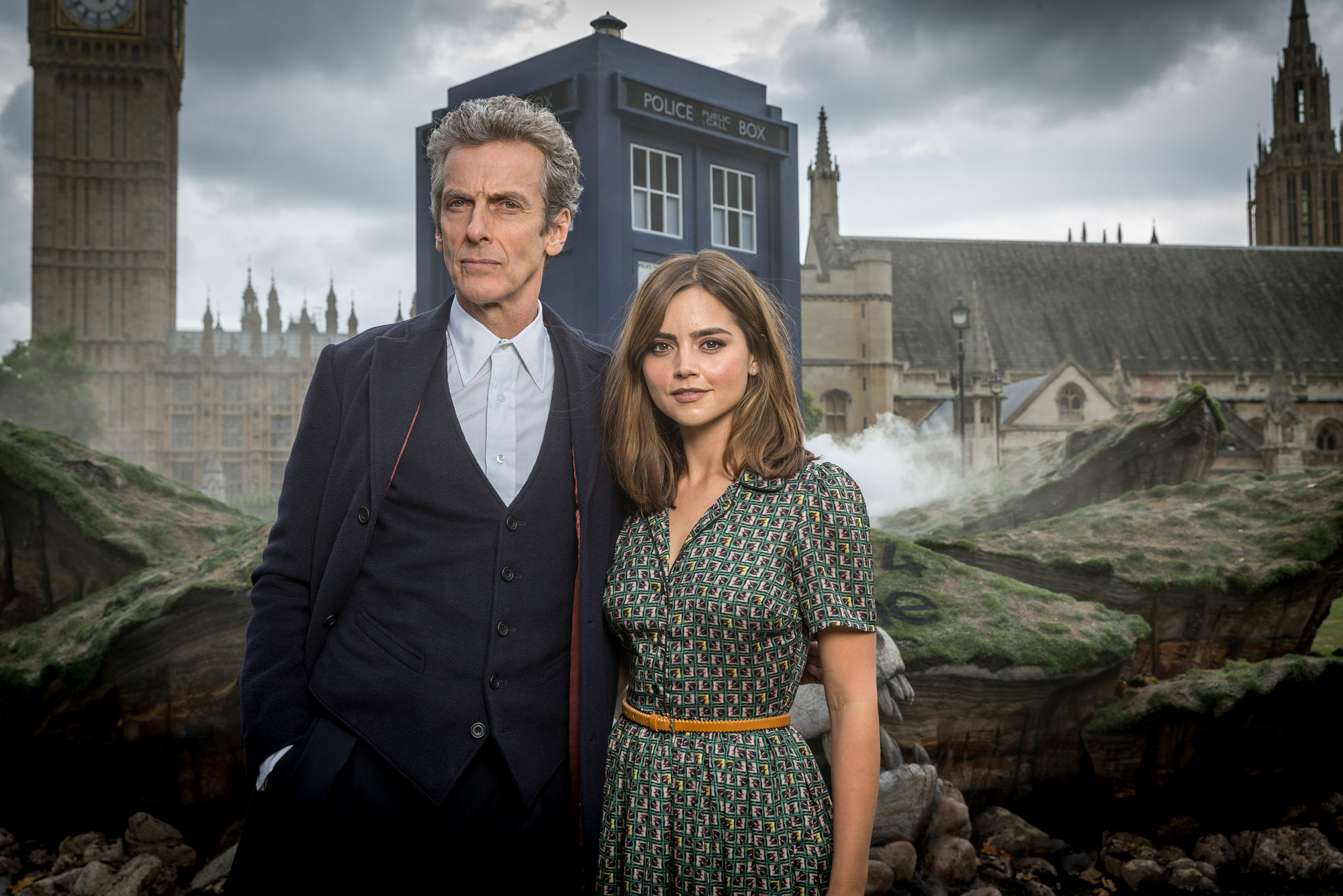 TARDIS Crash lands (Credit: BBC/Guy Levy)