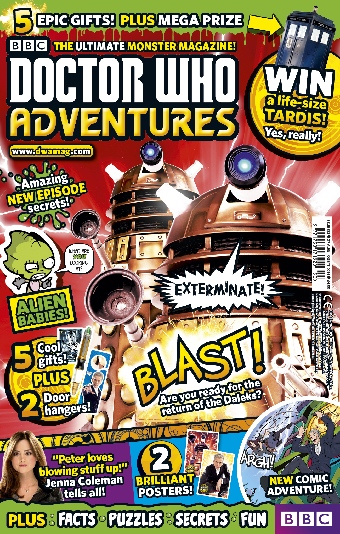 BBC Doctor Who Adventures Issue 353