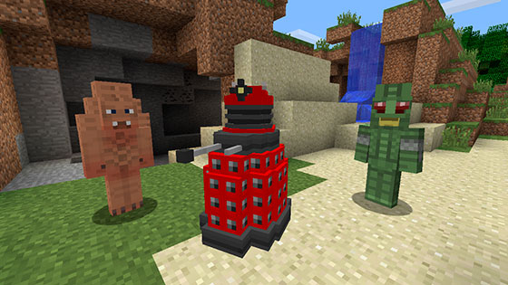 The Daleks on Minecraft (Credit: BBC Worldwide)