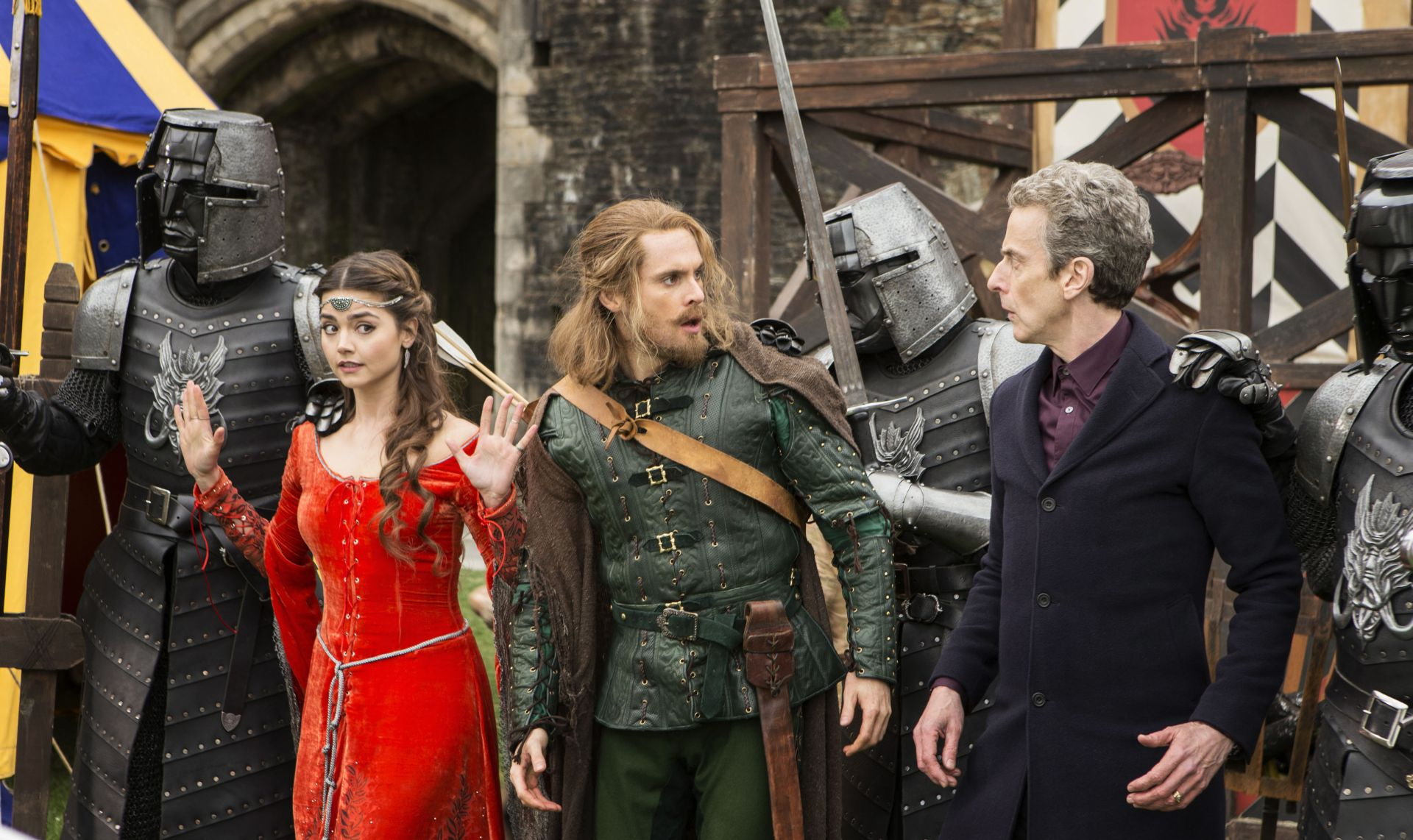 The Doctor, Robin and Clara (Credit: BBC/Adrian Rogers)