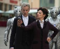 Death in Heaven, the Doctor (Peter Capaldi) and Missy (Michelle Gomez) (Credit: Adrian Rogers, ©BBC/BBC WORLDWIDE 2014)