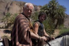 Sarpedon (Robert Pugh), Jason (Jack Donnelly) (Credit: BBC/Urban Myth Films)