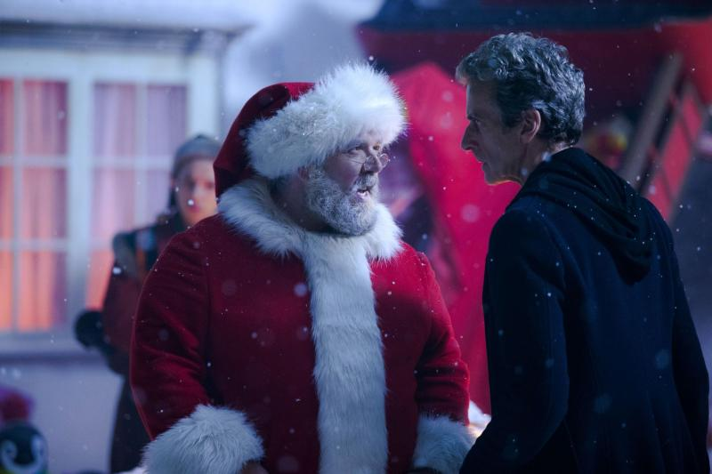 The Doctor and Santa Claus (Credit: BBC)