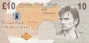 Bank note featuring the 10th Doctor (Credit: BBC)