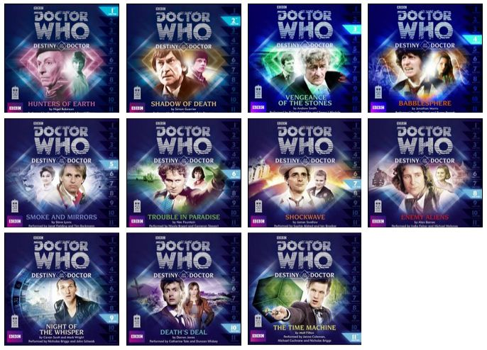 Destiny of the Doctor - full range (Credit: AudioGo / Big Finish)