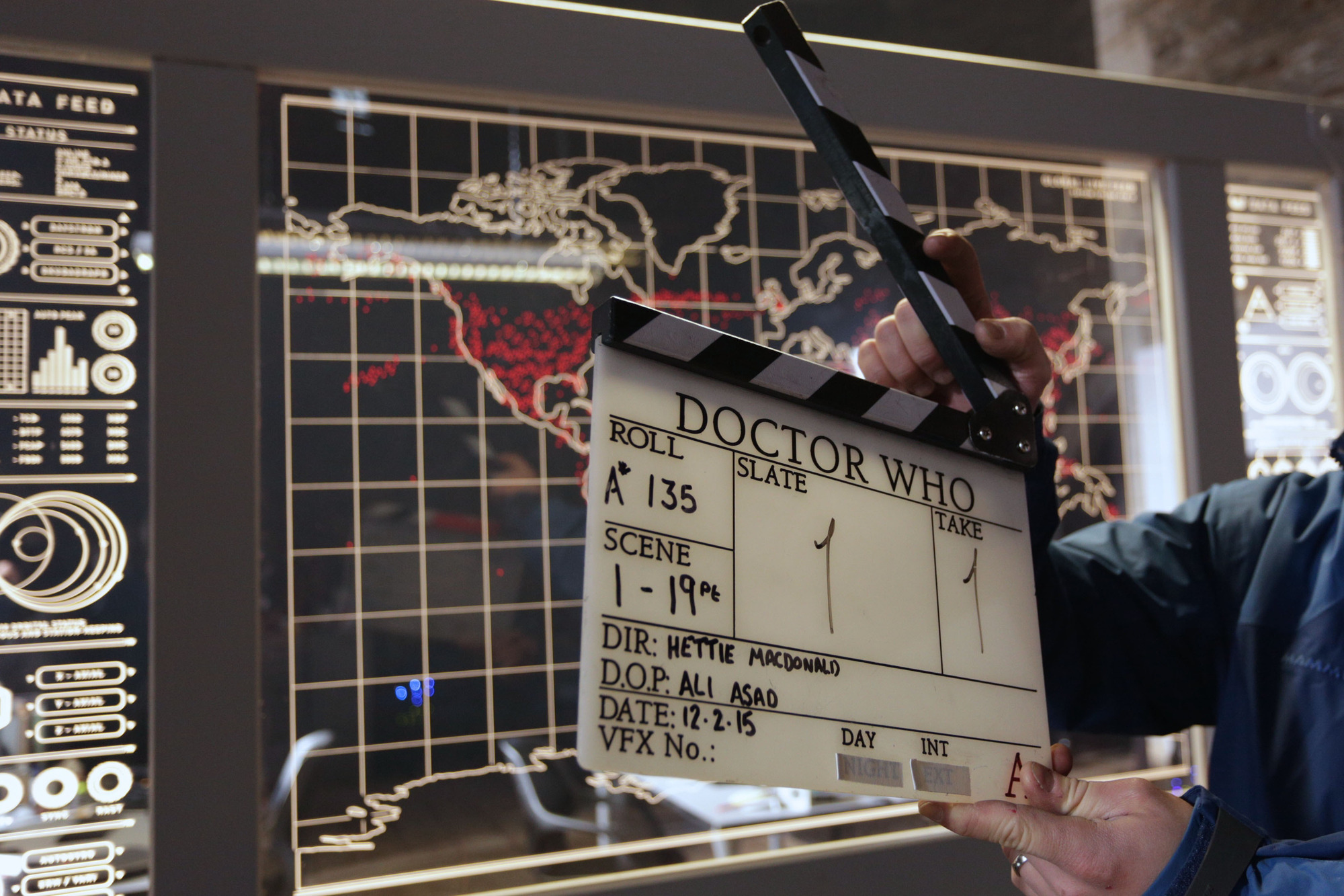 Clapperboard (Credit: BBC/Simon Ridgway)