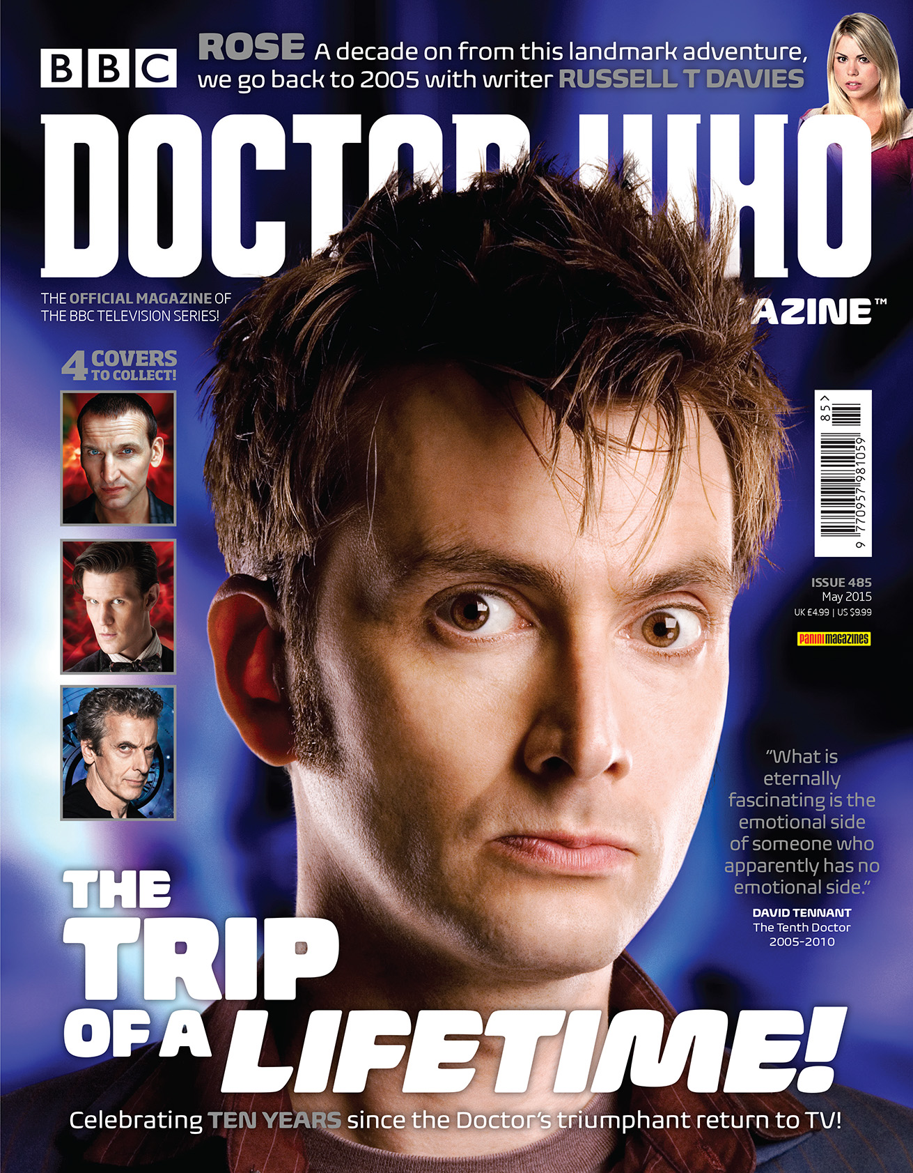 Doctor Who Magazine Issue 285 (Tenth Doctor cover) (Credit: Doctor Who Magazine)