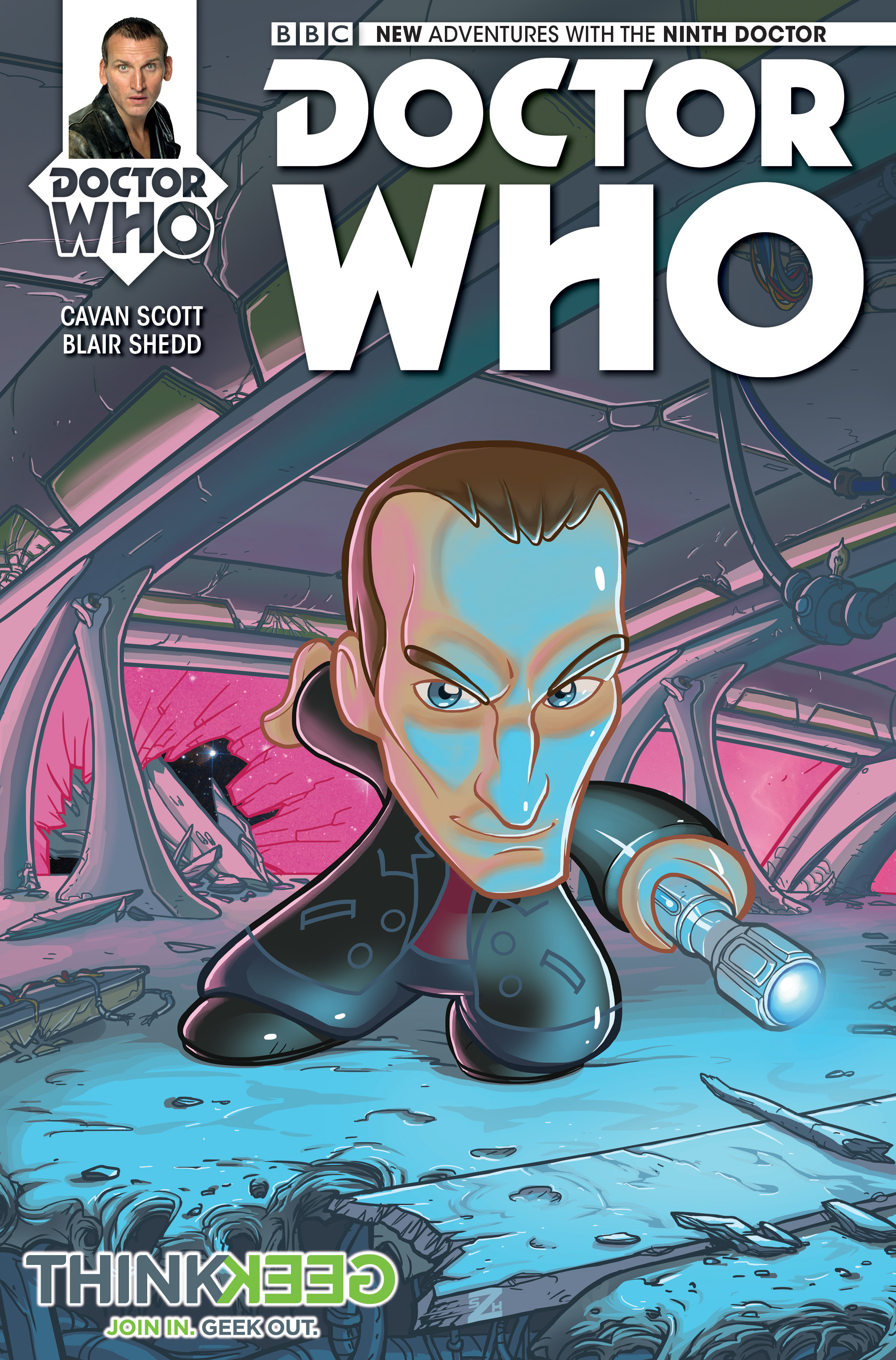 Ninth Doctor #1 Think Geek variant (Credit: Titan)