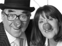 Ronnie Corbett with Elisabeth Sladen for the Comic Relief Special. Credit: BBC