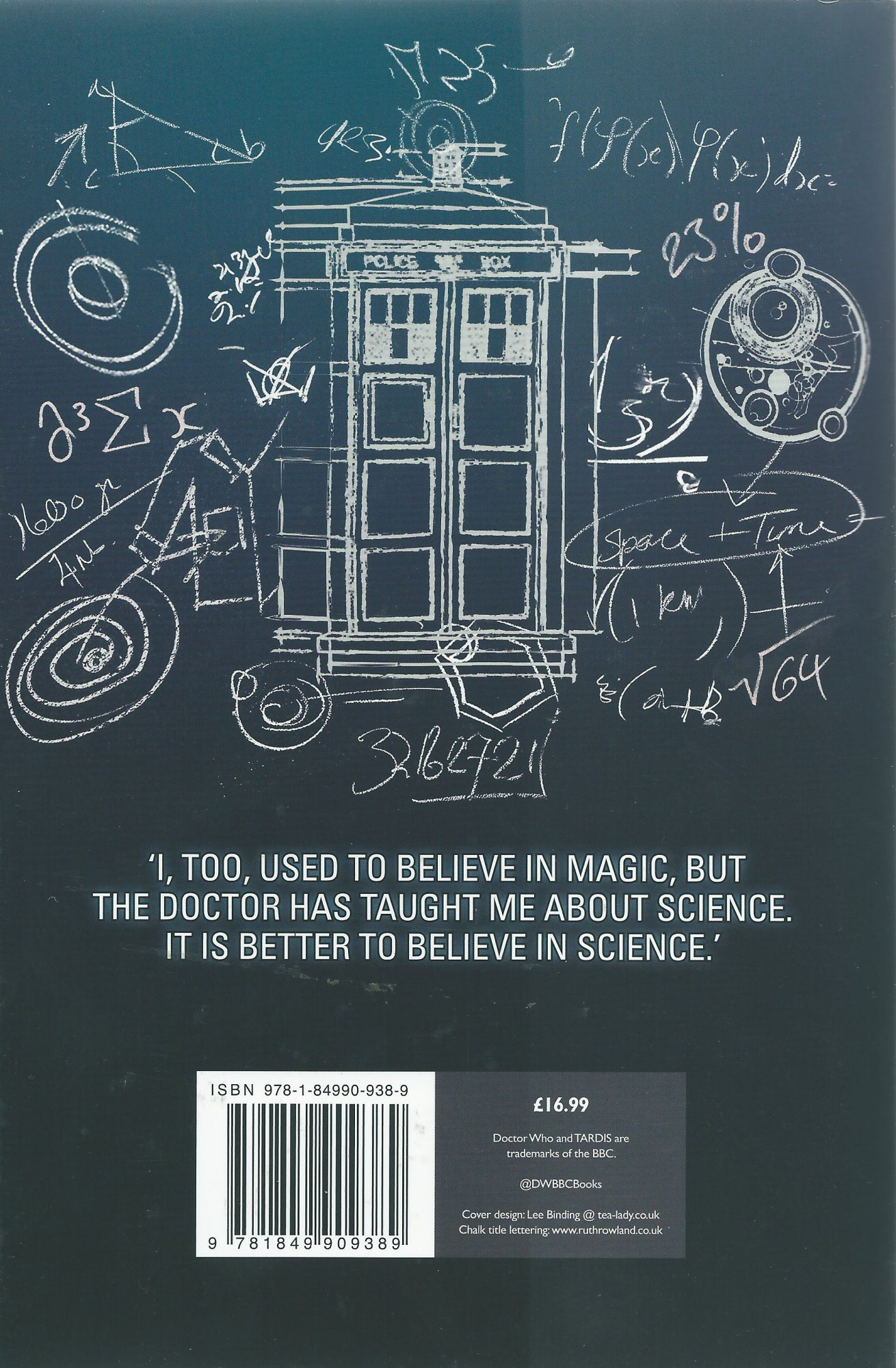 The Scientfic Secrets Of Doctor Who (back cover) (Credit: BBC Books/Lee Binding)