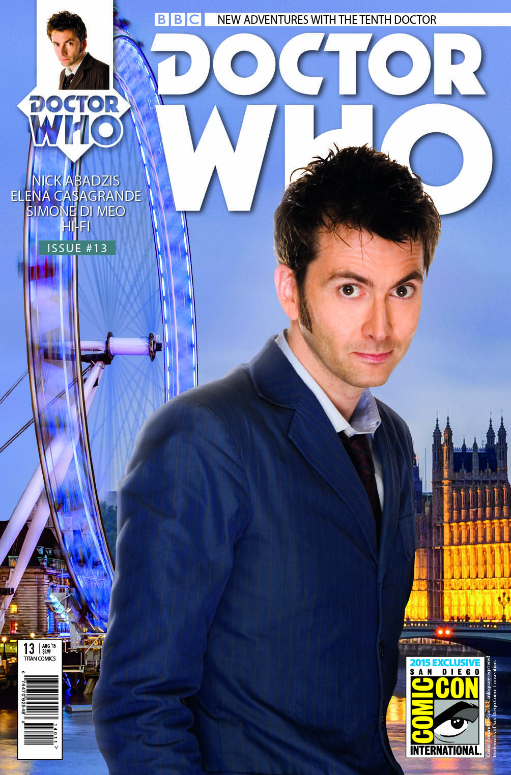 Doctor Who: Tenth Doctor #14 (SDCC Exclusive Cover) (Credit: Titan Comics)
