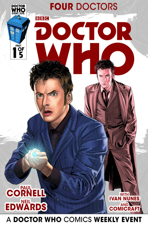 Doctor Who: Four Doctors Cafe Anime Variant Cover (Credit: titan / Mariano Laclaustra)