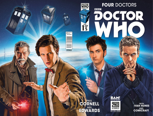 Doctor Who: Four Doctors Books-A-Million Variant Covers  (Credit: titan / Joe Corroney)
