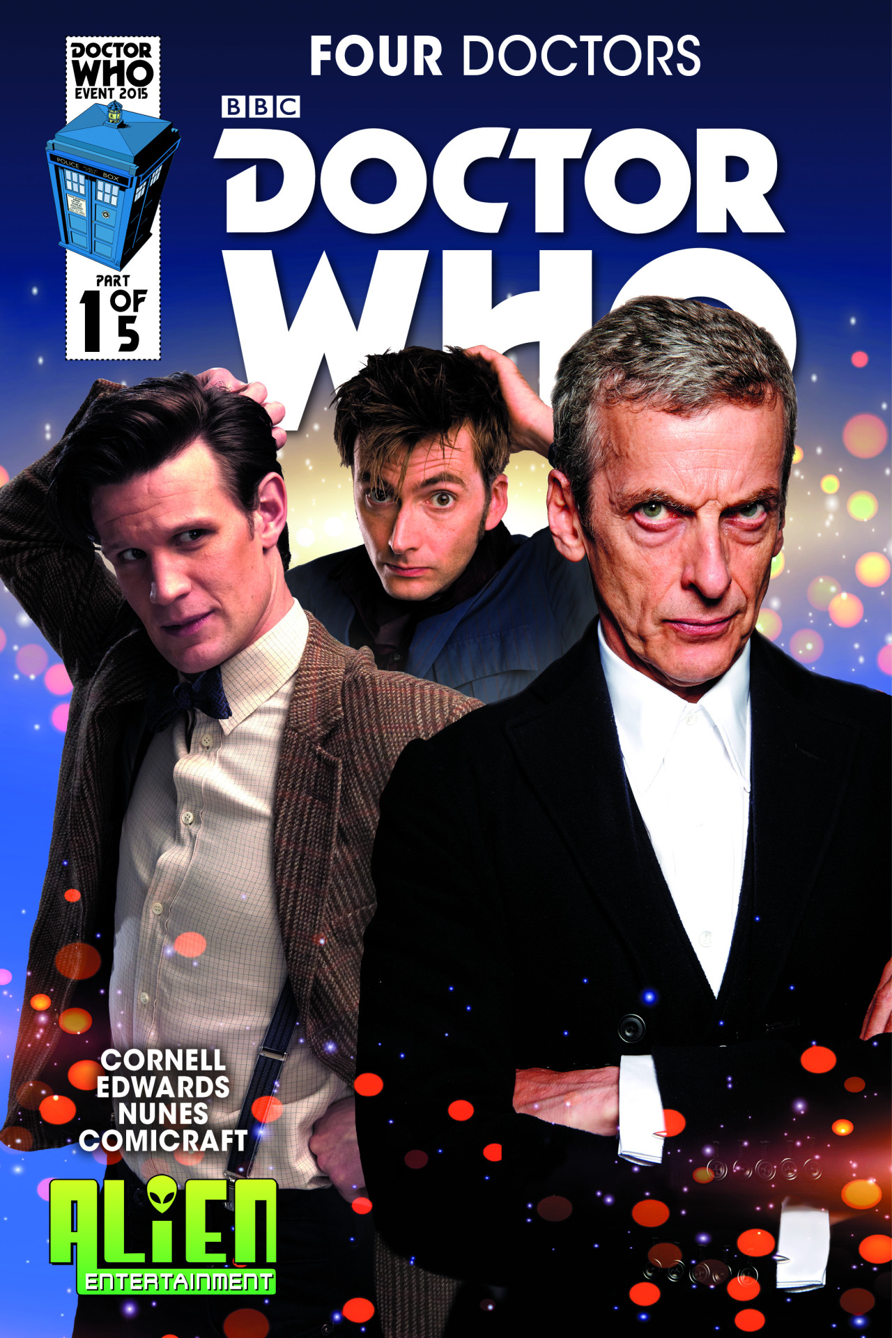 Doctor Who: Four Doctors #1 Alien Entertainment Photo Variant Cover (Credit: titan)