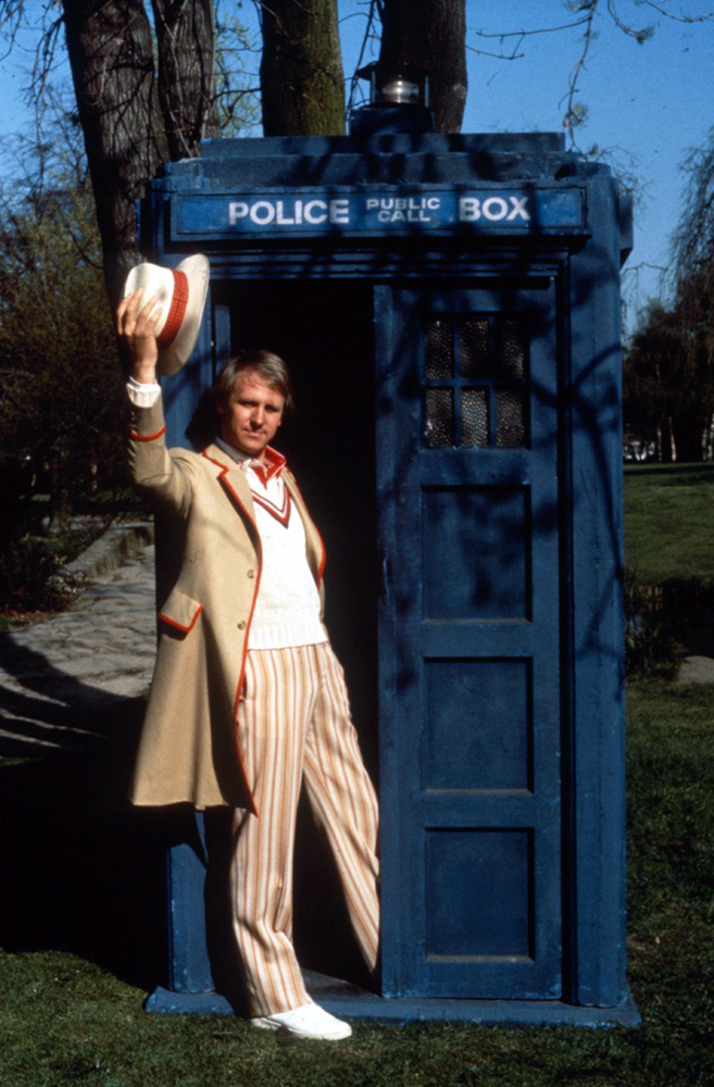 Peter Davison as The Doctor (Credit: BBC)
