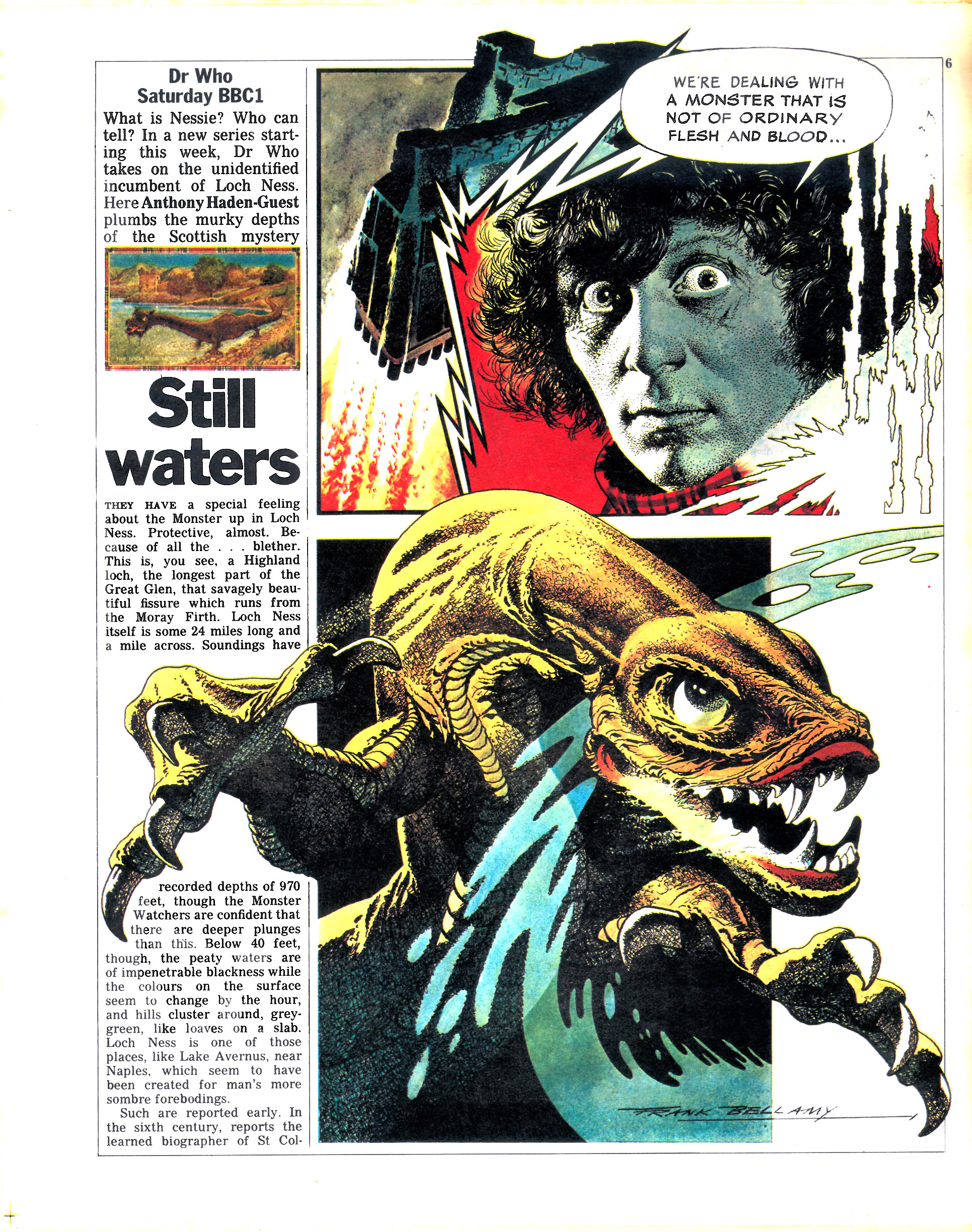 Still waters, page 1 (Credit: Radio Times / Frank Bellamy)