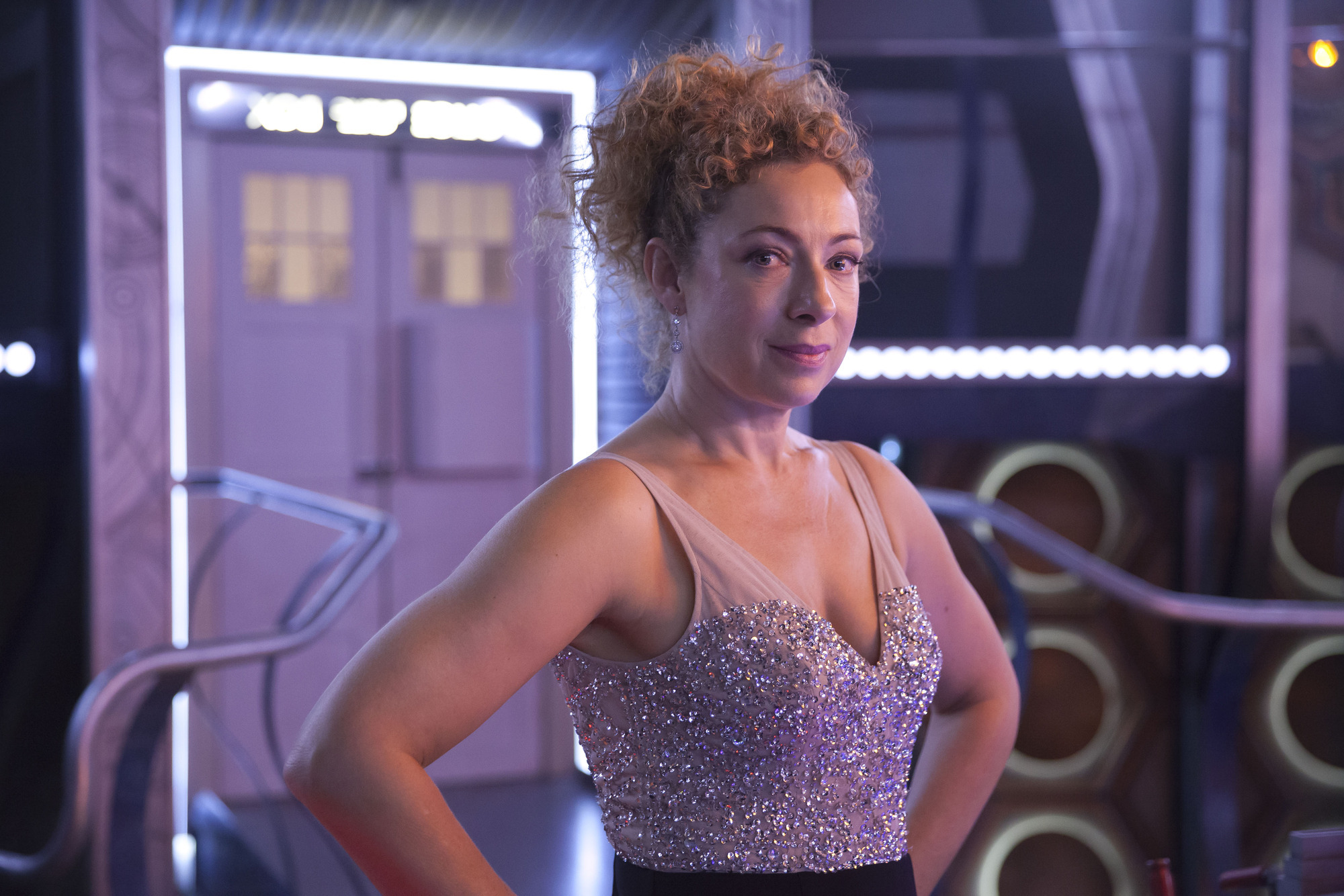 Alex Kingston as River Song in the 2015 Christmas Special (Credit: BBC/Jon Hall)