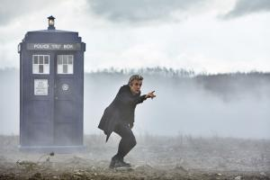 Peter Capaldi as the Doctor in The Magician's Apprentice (Credit: BBC/Simon Ridgway)