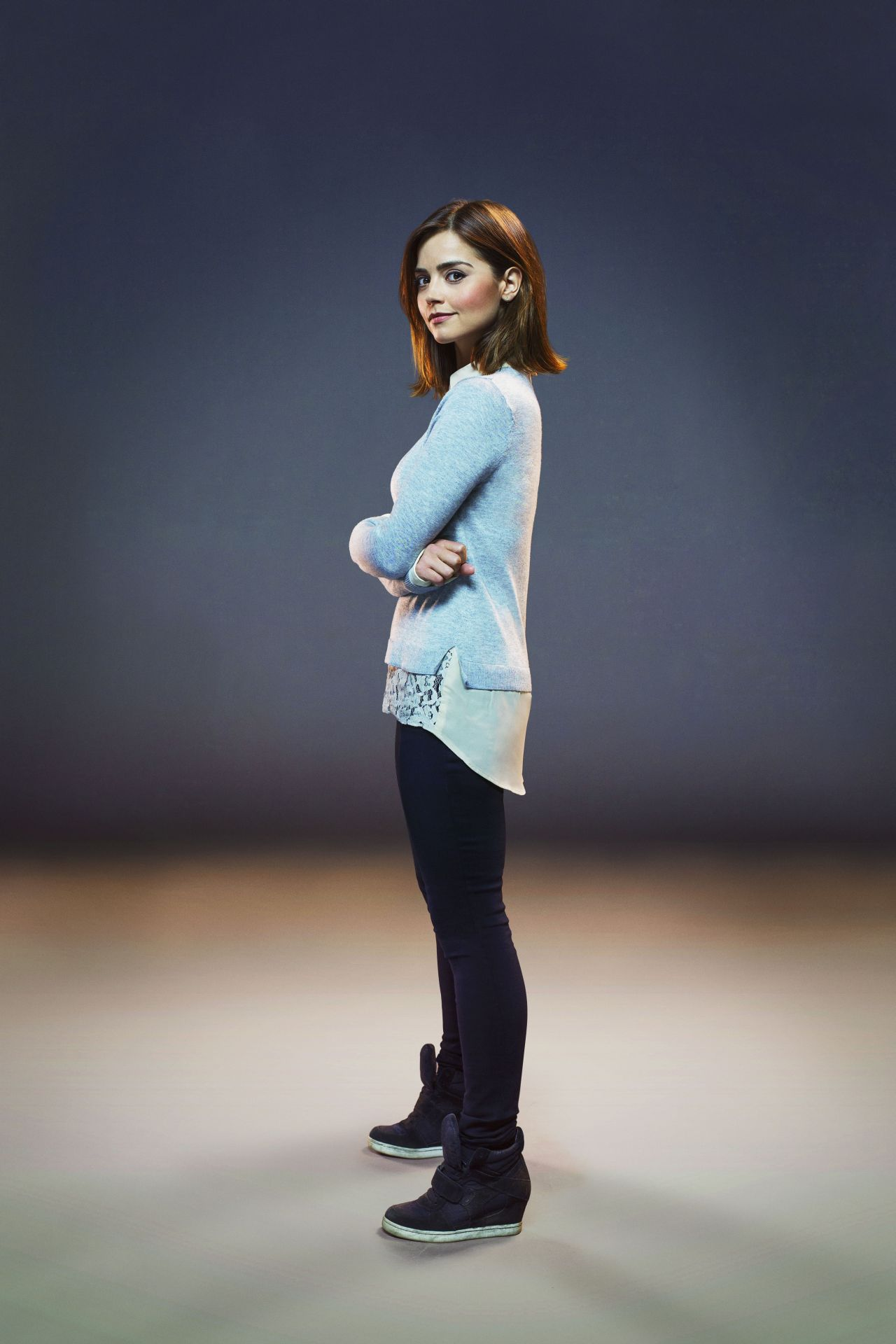 Jenna Coleman and Clara (Credit: BBC/David Venni)