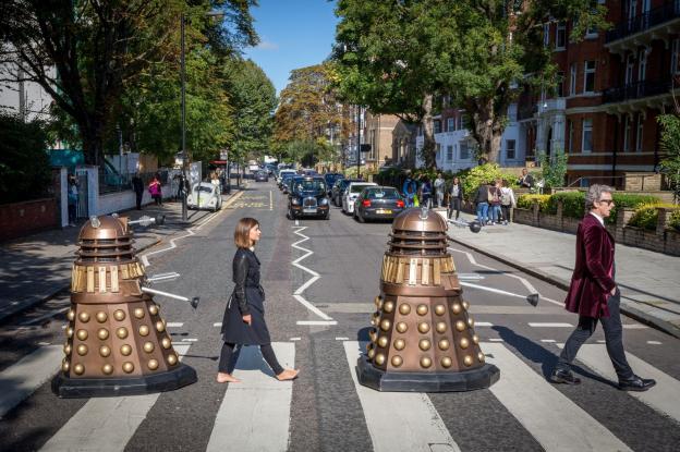 Abbey Road Crossing! (Credit: BBC)