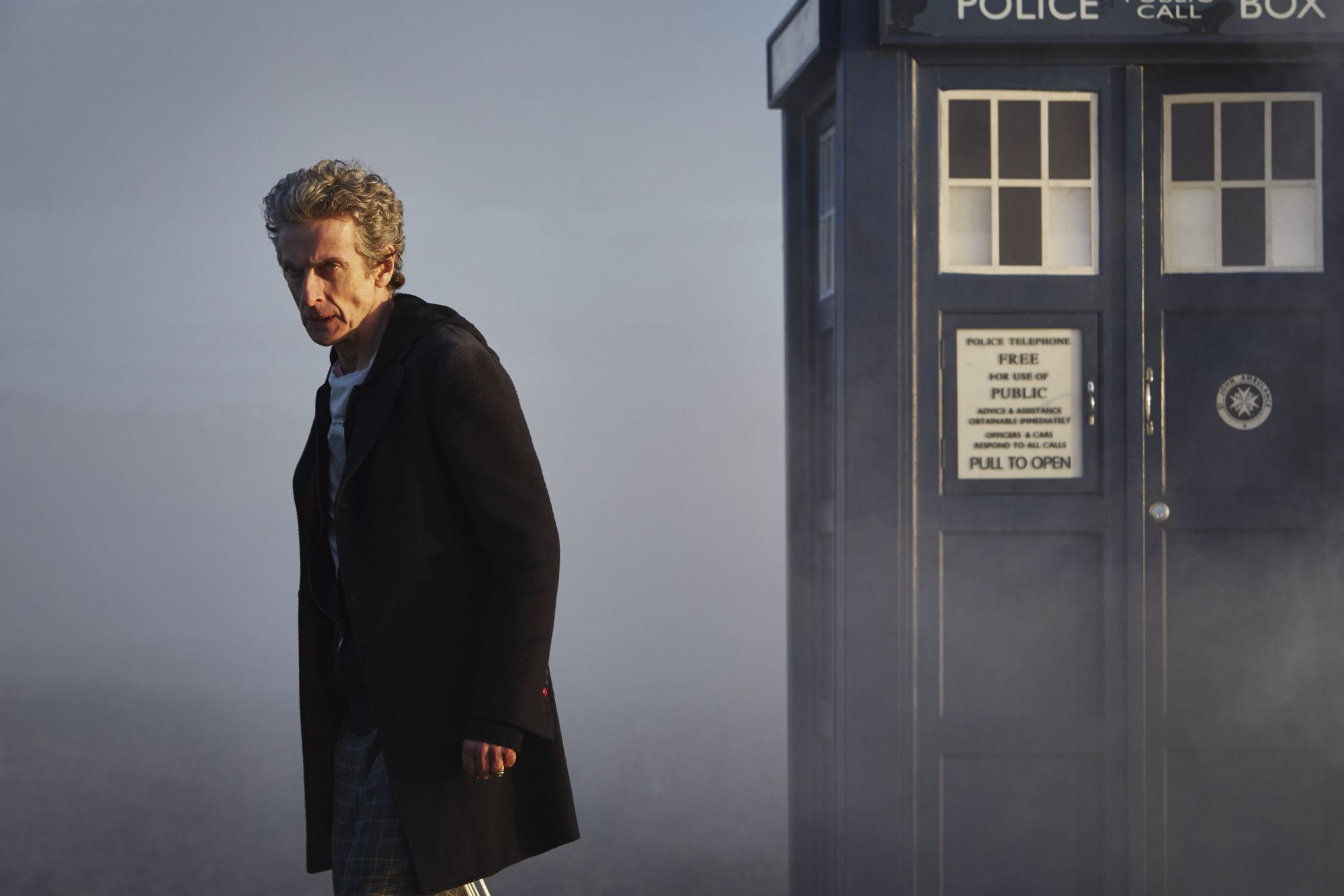 The Witch's Familar: Peter Capaldi as The Doctor (Credit: BBC/Simon Ridgway)