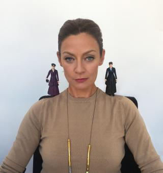 Michelle Gomez with Missy x 2! (Credit: Evolution PR)